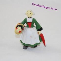 Figurine Bécassine PLASTOY panier et parapluie pvc H/GL 95