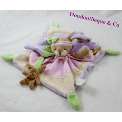 Doudou flat Bunny BLANKIE and company Lila Pink Purple green 24 cm