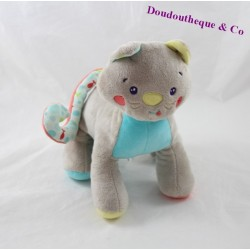 Plush cat candy CANE gray fish 22 cm