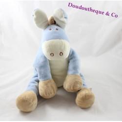 Peluche âne Paco NOUKIE'S bleu beige 35 cm