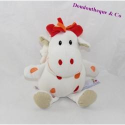 Doudou music donkey P' little Kiss AUBERT red white 22 cm