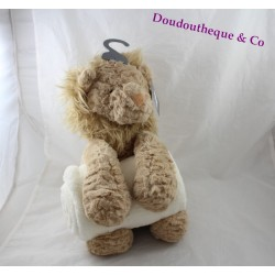 Plush lion PRIMARK with beige white cover 30 cm