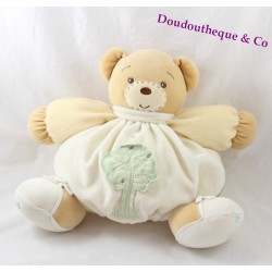 Teddy bear ball KALOO beige cream green 29 cm tree