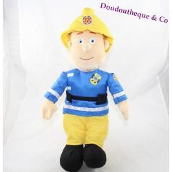 Peluche Sam SIMBA Sam le pompier jaune bleu 45 cm