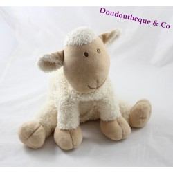 Silk sheep cub Nature and Curly Beige Discoveries 28 cm