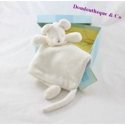 Doudou flat triangle mouse 40 cm beige TROUSSELIER
