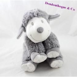 Peluche mouton NICOTOY gris blanc yeux brodés Simba Toys 25 cm
