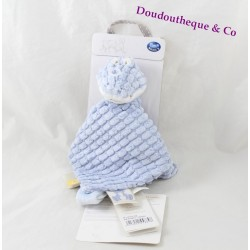 NOUKIE'S crocodile flat comforter Tidou Bill and Bono blue pacifier clip