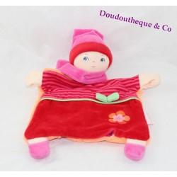 Doudou marionnette Babipouce COROLLE grenadine premier âge 26 cm