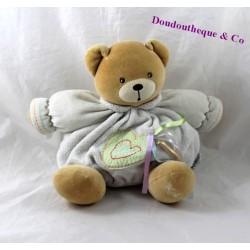 Doudou patapouf ours KALOO Que du bonheur rubans 24 cm