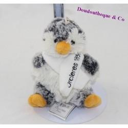 Porte clés peluche pingouin HISTOIRE D'OURS gris écharpe HO2120GR 13 cm