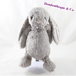 Plush rabbit DAMART gray red green peas 29 cm