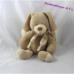 Doudou rabbit NICOTOY Bastien brown beige 27 cm