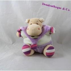 Doudou boule hippopotame DOUDOU ET COMPAGNIE Les z'amigolos violet 24 cm