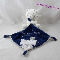 Doudou mouchoir tigre SIMBA TOYS BENELUX My little Tiger bleu 13 cm