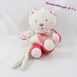 Doudou cat candy CANE attached gray red nipple 20 cm