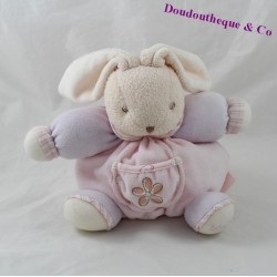 Doudou ball rabbit KALOO Lilirose Pocket Flower Pink 18 cm