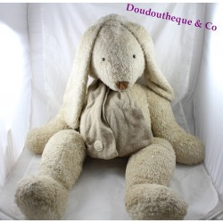 Giant plush rabbit MOULIN ROTY Basil and Lola beige 80 cm