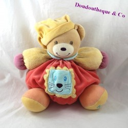 Doudou budderball bear kaloo pop Pocket lion head red 25 cm