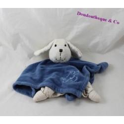 Dog flat blankie KÄTHE KRUSE blue white 26 cm