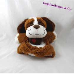 Doudou puppet dog DNG CASH Brown Saint Bernard barrel 25 cm
