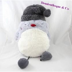 Peluche chouette ETAM hibou range pyjama doudou bouillotte bonnet 38 cm