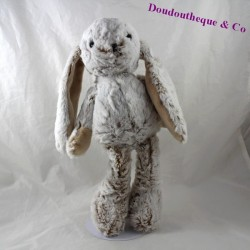 Rabbit plush KSD grey beige long hair 37 cm