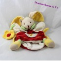 Doudou puppet rabbit DOUDOU and company yellow flower red 24 cm