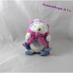 Hedgehog plush TARTINE and chocolate ski pink 14 cm