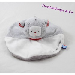 Doudou plat rond mouton SUCRE D'ORGE collection Cajou