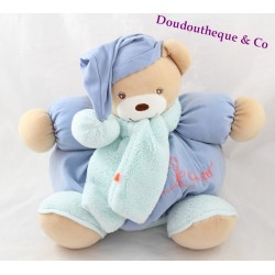 Teddy bear budderball KALOO Winter Follies blue scarf 30 cm