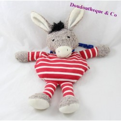 Doudou donkey KATHE KRUSE cherry cores red hot water bottle 32 cm