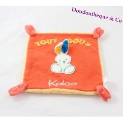 """""""Doudou rabbit flat, KALOO collection Sweet Life orange ' sweet Kaloo"""""""