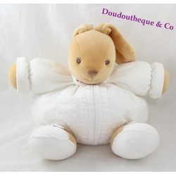 Plush doudou rabbit embroidered white KALOO Collection candle 30 cm