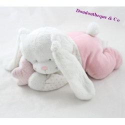 Musical plush rabbit TEX BABY pink coated star Carrefour 23 cm