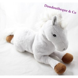Peluche cheval GIPSY Bella sara blanc marron 40 cm