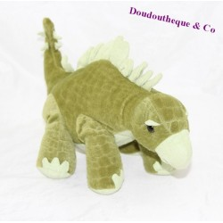 Peluche dinosaure BÉBÉ RÊVE Casino Stégosaure vert 15 cm