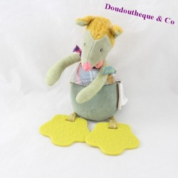 Doudou rattle Wolf Moulin ROTY tartempois Bell ring of teething 21 cm