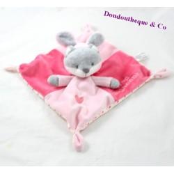 Doudou plat renard SIMBA TOYS déguisé en lapin Trop mignonne ... rose 22 cm