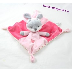 Flat plush Fox SIMBA TOYS disguised as rabbit too cute... pink 22 cm