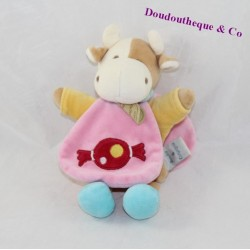 Doudou Cape cow DOUDOU and company candy pink 22 cm