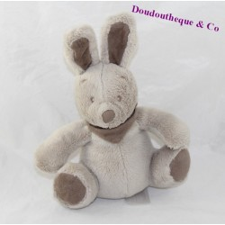 Doudou rabbit VERTBAUDET Simba toys taupe grey seated 18 cm
