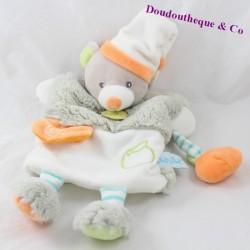Teddy bear puppet BABY NAT ' Oscar the Pooh grey Orange BN099 30 cm
