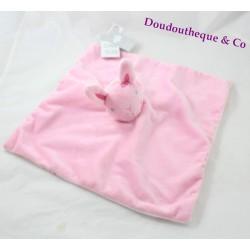 Flat blankie rabbit PRIMARK pink star baby comforter