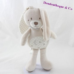 Plush rabbit sugar barley beige star Moon 26 cm