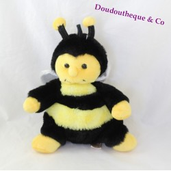 Peluche abeille RODADOU RODA rayé jaune noir 25 cm
