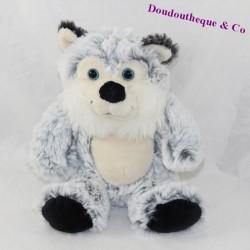 Plush Wolf HAN grey beige blue eyes long hair 22 cm