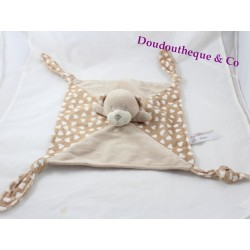 Flat Teddy bear South ETOFFE beige heart 4 knots 29 cm