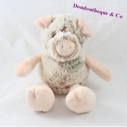 Doudou cochon HISTOIRE D'OURS Les Z'animoos beige 24 cm