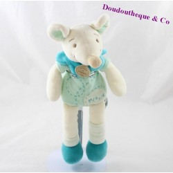 Doudou mouse Doudou and company Missie green 26 cm